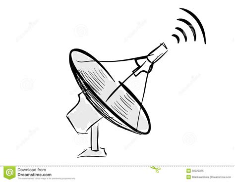 stylish tv wall satellite antenna stock vector image of digital radio