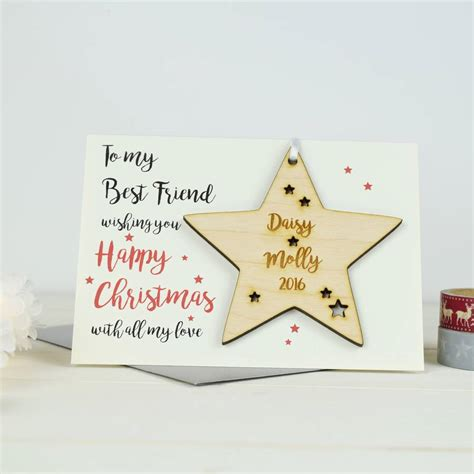 This punny card is a witty way to say happy holidays to your best friend, favorite family member, or whomever else you like to. personalised best friend's christmas card by just toppers | notonthehighstreet.com