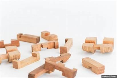 Barrel Puzzle Wooden Interlocking Animated Puzzles Solve
