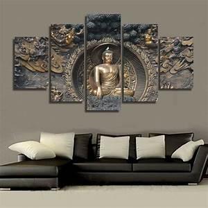 K L Wall Art : framed home decor canvas print painting wall art buddha statue meditation ebay ~ Buech-reservation.com Haus und Dekorationen