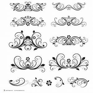 digital clipart flourish swirl vector vintage flower diy With free wedding invitation pictures clip art