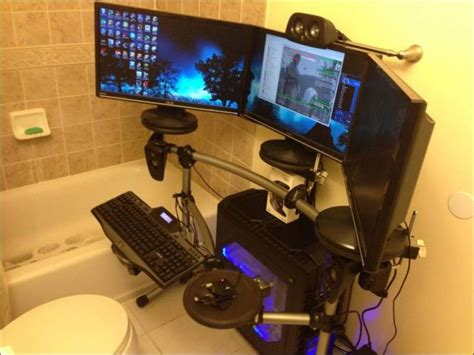 my in the bathroom gaming rooms that are beyond awesome 24 pics picture