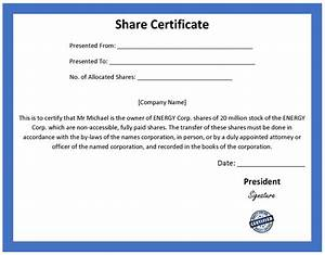 Search results for share certificate template calendar for Shareholders certificate template free