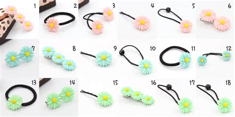 Vivid Daisy Flower 3 Colors Different Types Of Headwear
