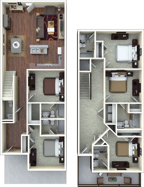 Top Apartment Floor Plans by Apartment Floor Plans At The Retreat At Gainesville