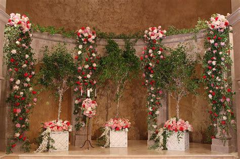 elegant enchanted garden pink  green wedding