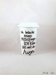 Porzellanbecher To Go : coffee to go porzellanbecher thermobecher mit spruch porcellain coffee to go cup via dawanda ~ Orissabook.com Haus und Dekorationen