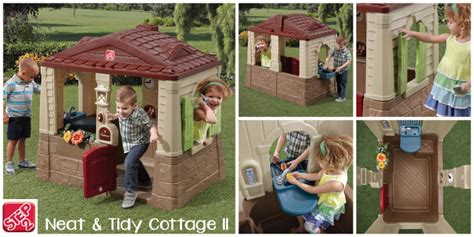 step 2 neat and tidy cottage giveaway win a step2 neat tidy cottage ii playhouse