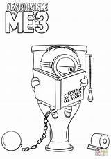 Minions Minion Gru Coloring Despicable Minionki Dru Prison Printable Colorear Kolorowanki Drawing Kleurplaat Bob Dibujos Jail Colorare Zum Ausdrucken Animowane sketch template