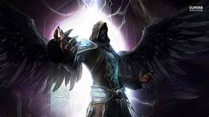 Dark and Light Angel | Dark angel wallpaper 1366x768 ...