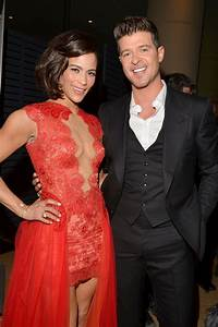 Paula Patton and Robin Thicke attended the event together ...