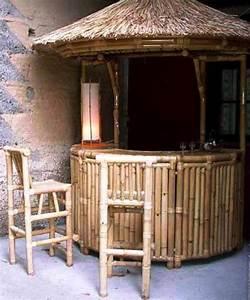 Bar Exterieur De Jardin : gazebo et ameublement bambou laval 53 ~ Teatrodelosmanantiales.com Idées de Décoration