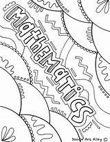 Coloring Mathematics Maths Covers Math Notebook Subject Binder Template Colorir Doodles Classroom Desenhos Templates Result Decorate Capa Caratulas Musica English sketch template
