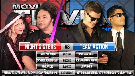 Movie Trivia Schmoedown Night Sisters Vs Team Action