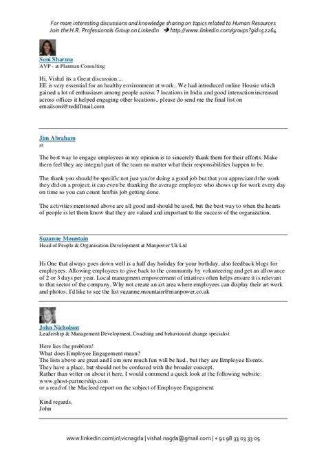 Employee Engagement Resume Sle by 100 Organisational Development Cv Template Hr Sle Resume Hr Generalist 28 Images Successful