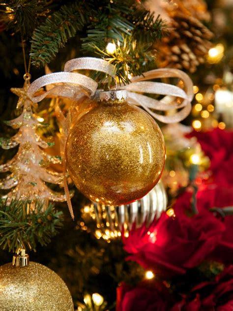 glitter glass ball ornaments hgtv