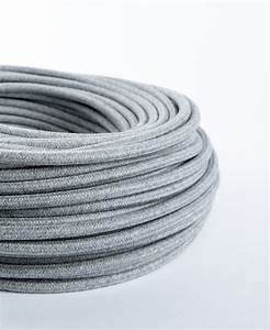 Fabric Cable Pale Grey Felt For Lighting Tactile Touch