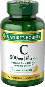Amazon Com  Nature U0026 39 S Bounty Vitamin C 500 Mg  90 Chewable Tablets  Pack Of 3   Health  U0026 Personal