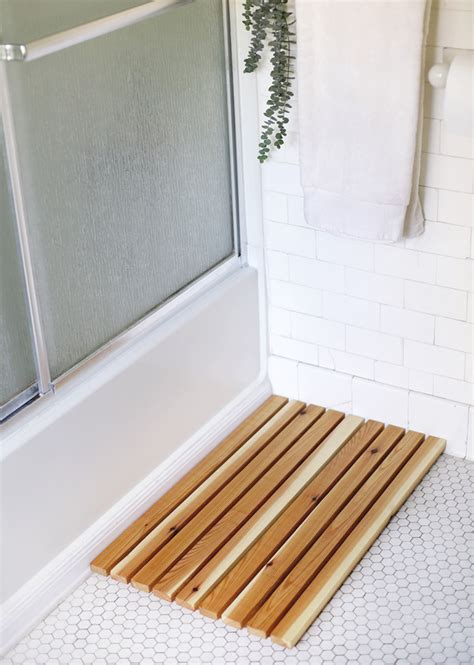 wooden bath mat how to make a diy wooden slat bath mat made diy