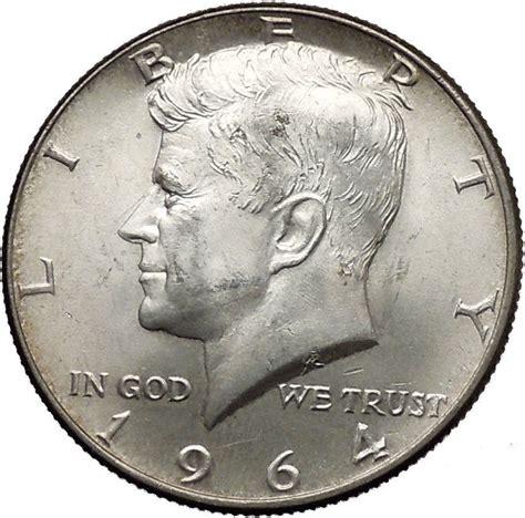 1964 half dollar value 1964 president john f kennedy silver half dollar united states usa coin i44608 ebay