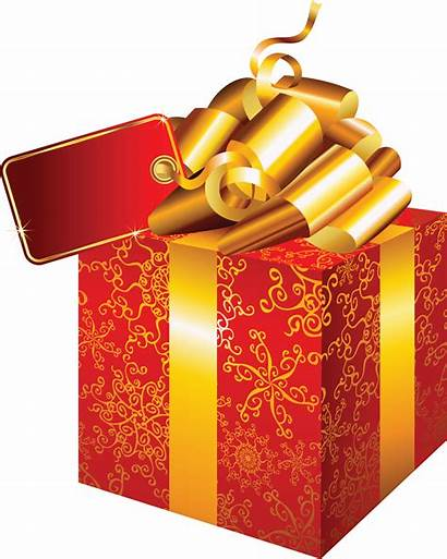 Transparent Gift Box Christmas Clipart Background Gold
