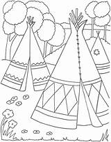 Coloring Indian Pages Indians Coloringpages1001 Sheets Native sketch template