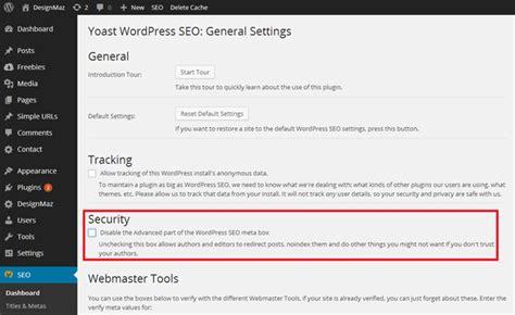Performance Settings For Wordpress Seo By Yoast Plugin
