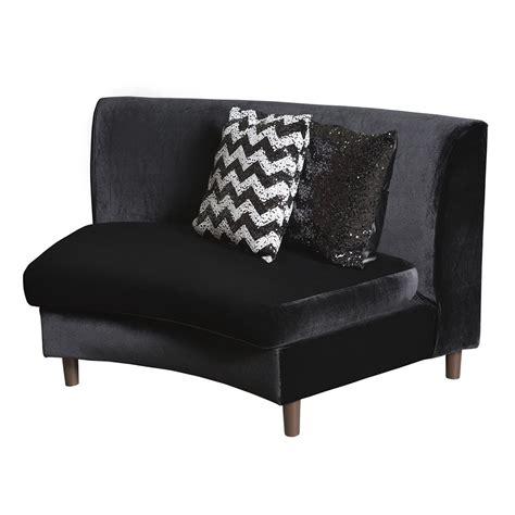 Black Velvet Loveseat by Black Velvet Sofa Collection N 252 Age Designs