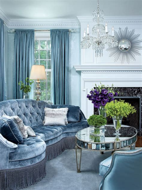 stunning ice blue living room design ideas