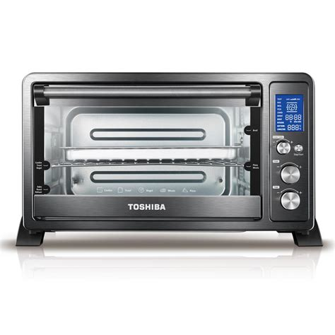 White Digital Toaster Oven by Toshiba Digital 6 Slice Black Convection Toaster Oven