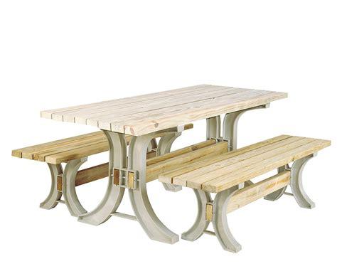 Resin Frame Kit Picnic Table Furniture Bench Seat Patio