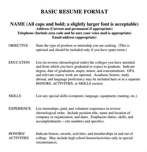 What To Put In Your College Resume by 9 Sle College Resume Templates Free Sles