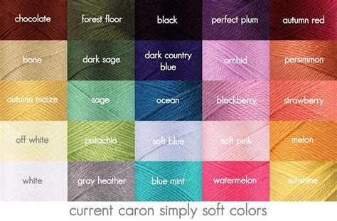 yarn color chart caron yarn color chart search c is for craft