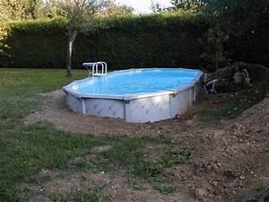 Piscine Semi Enterrée Coque : piscine semi enterr e acier achat piscine coque idea mc ~ Melissatoandfro.com Idées de Décoration