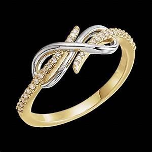 Two Tone Diamond Infinity Style Ring