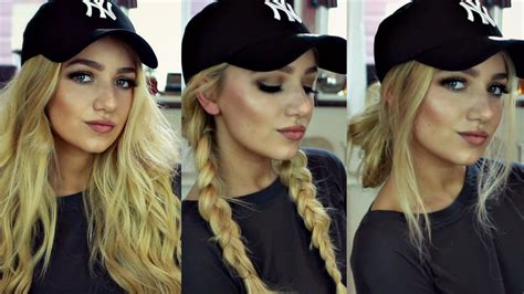 cute hairstyles for work hats hair