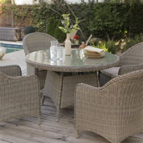 mingle all weather wicker patio dining table