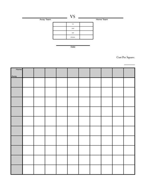 printable football squares activity shelter