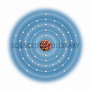Antimony, atomic structure - Stock Image C023/2541 ...