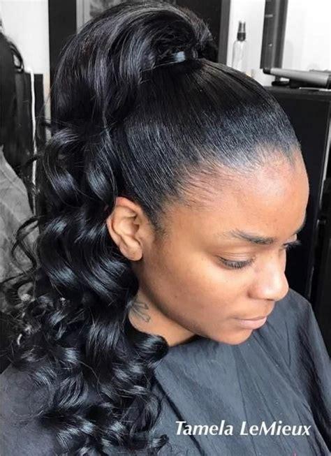 classy black ponytail hairstyles  black girls