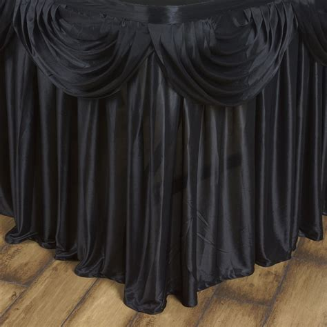 drape table 14 x 29 quot satin classic drape table skirt wedding