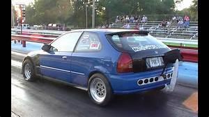 Turbo Honda Civic Drag Car