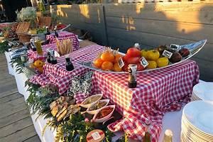 Idée Repas Soirée : buffet campagnard f te anniversaire brunch wedding garden picnic et barbecue garden ~ Melissatoandfro.com Idées de Décoration