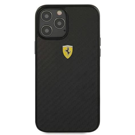 """I've tested more than 40 cases on the iphone 12 pro and max, but they should also work perfectly well on the iphone 12 and 12 mini. Ferrari FERCAHCP12LBK iPhone 12 Pro Max 6,7"""" černý/black hardcase On Track Real Carbon - MEZAMO.CZ"""