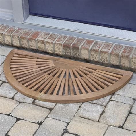 semi circle doormat half teak mat outdoor