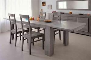 table de salle a manger avec 2 allonges chypre buffet With meuble salle À manger avec grande table de salle a manger en bois