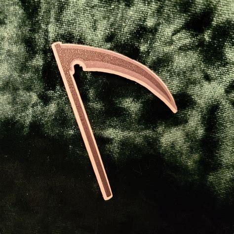 isaac foster s scythe sticker weapon sticker serial etsy