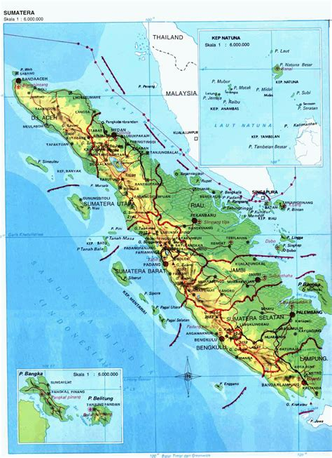 amazing indonesia sumatra island map