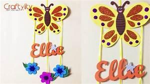 DIY Door Name Plate for Kids Room | Foam Craft | Wall ...