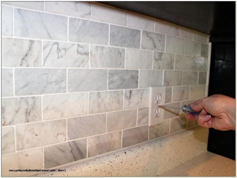Groutless Marble Tile Backsplash   Tiles : Home Design